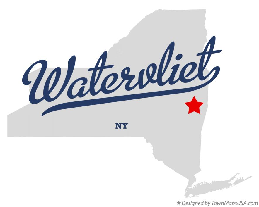 Map of Watervliet New York NY