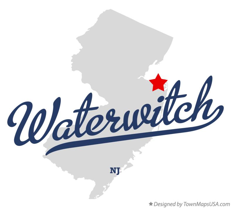 Map of Waterwitch New Jersey NJ