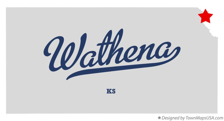 Map of Wathena Kansas KS