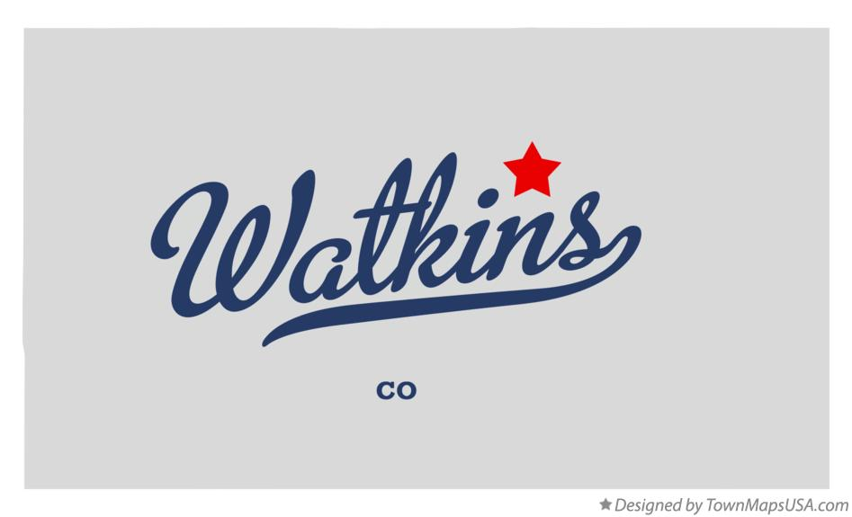 Map of Watkins Colorado CO