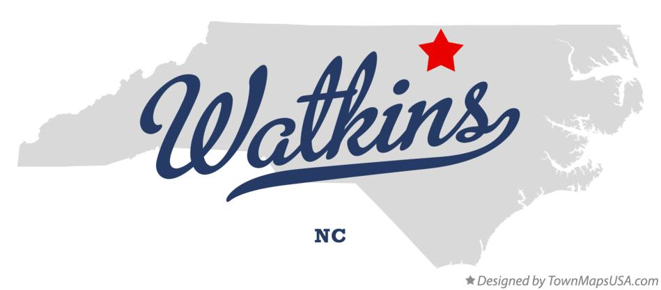 Map of Watkins North Carolina NC