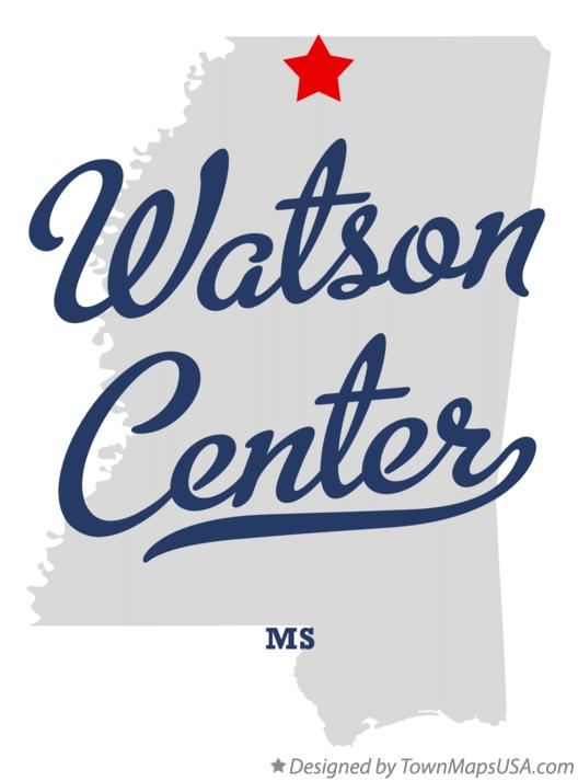 Map of Watson Center Mississippi MS