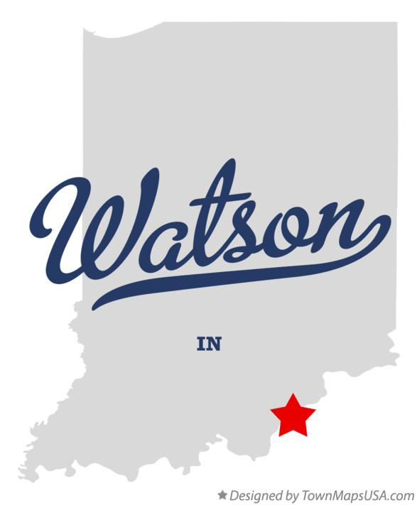 Map of Watson Indiana IN