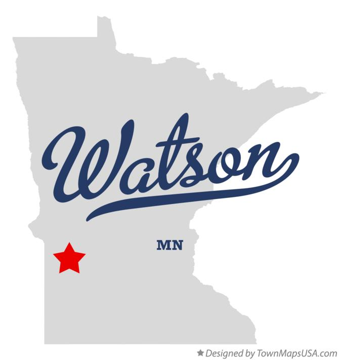 Map of Watson Minnesota MN