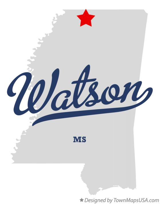 Map of Watson Mississippi MS
