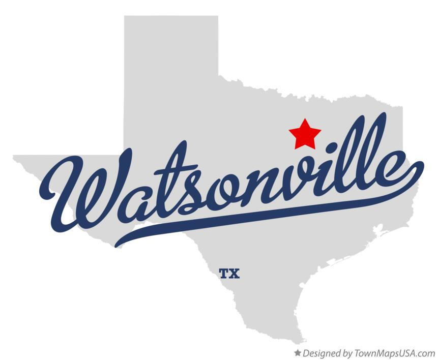 Map of Watsonville Texas TX
