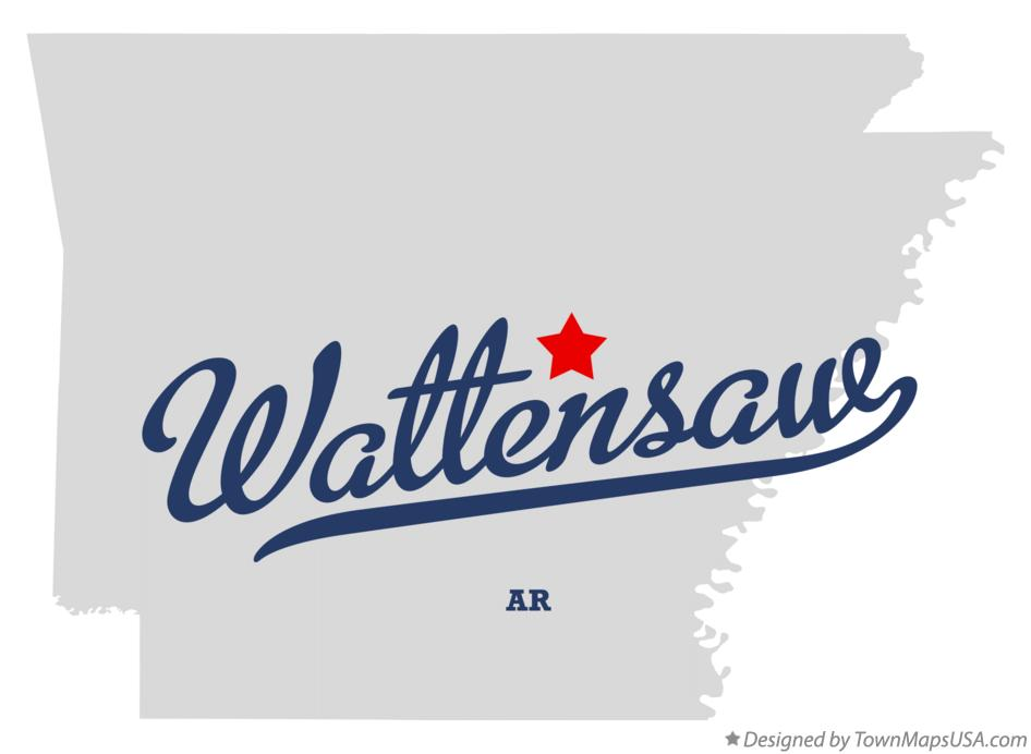 Map of Wattensaw Arkansas AR
