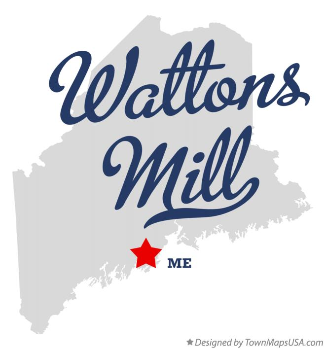 Map of Wattons Mill Maine ME