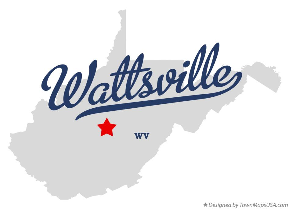 Map of Wattsville West Virginia WV