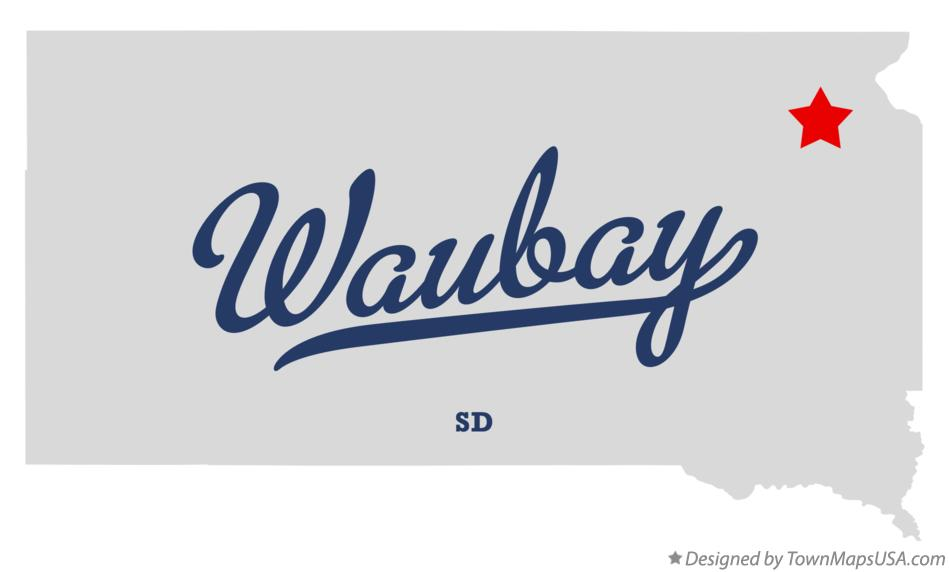 Map of Waubay South Dakota SD