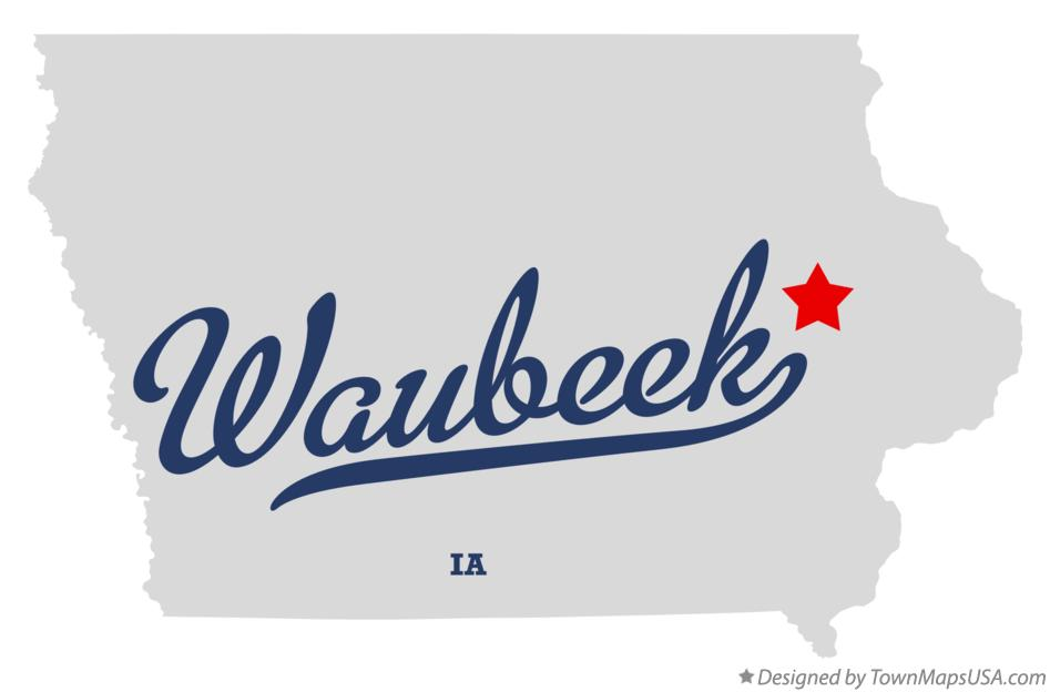 Map of Waubeek Iowa IA