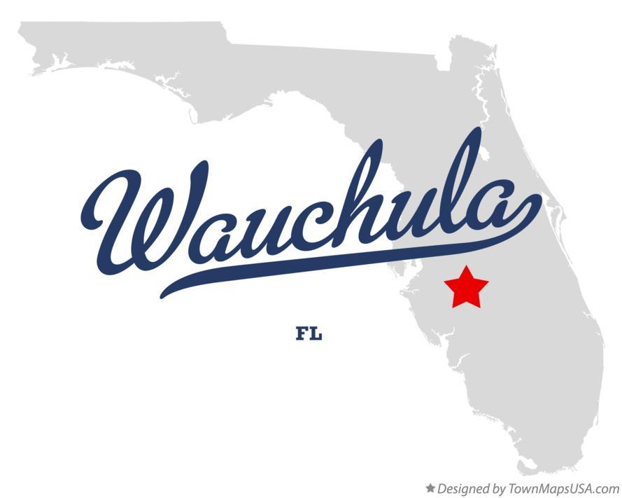Map of Wauchula, FL, Florida