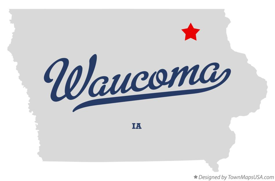 Map of Waucoma Iowa IA