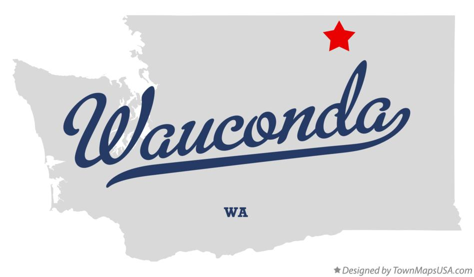 Map of Wauconda Washington WA