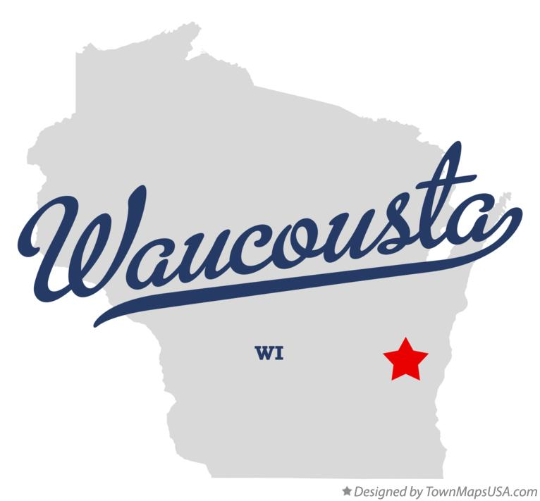 Map of Waucousta Wisconsin WI