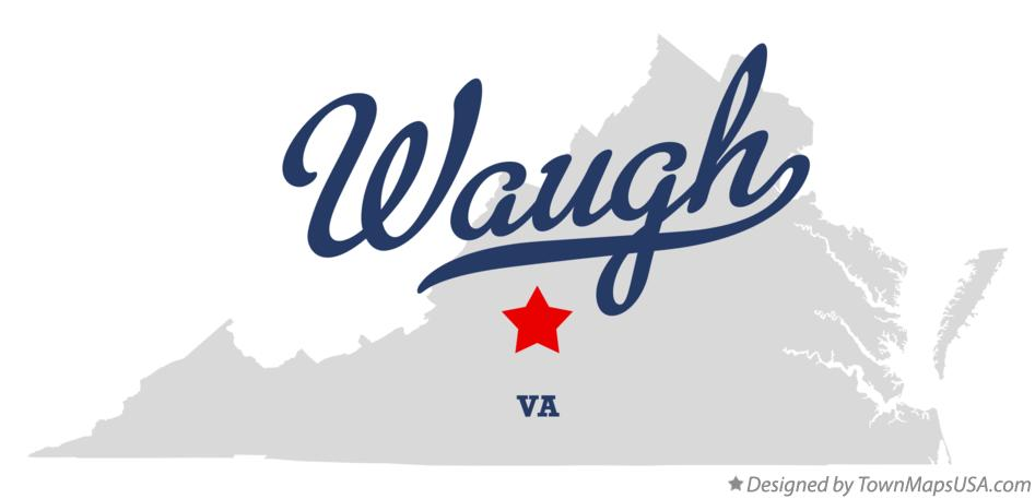 Map of Waugh Virginia VA