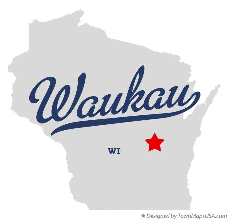 Map of Waukau Wisconsin WI