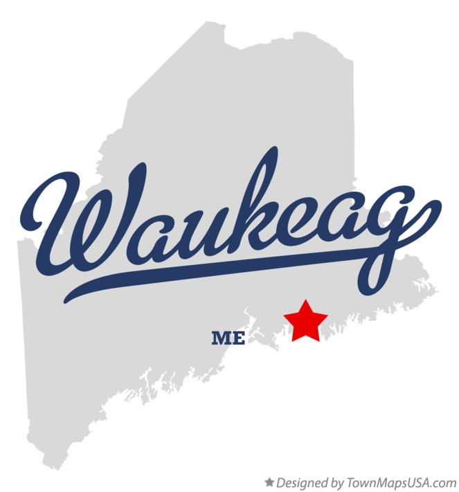 Map of Waukeag Maine ME