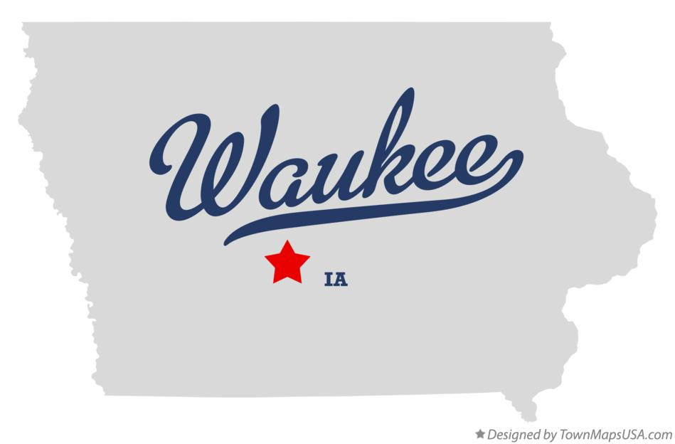 Map of Waukee Iowa IA