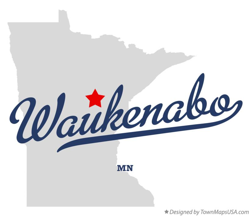 Map of Waukenabo Minnesota MN