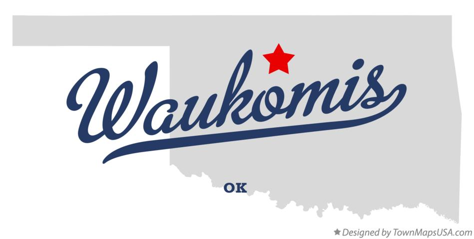 Map of Waukomis Oklahoma OK