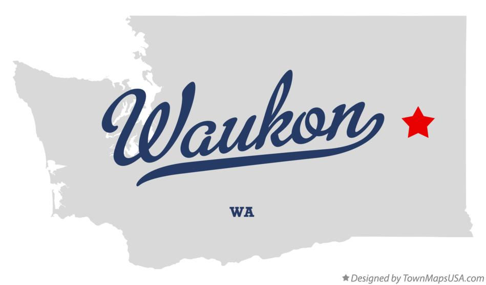 Map of Waukon Washington WA