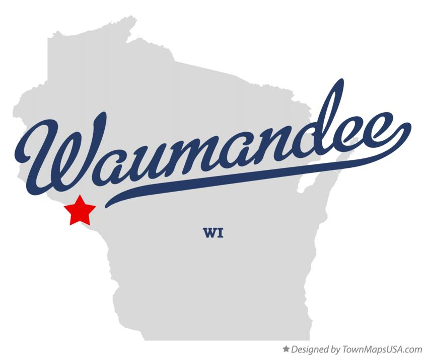 Map of Waumandee Wisconsin WI