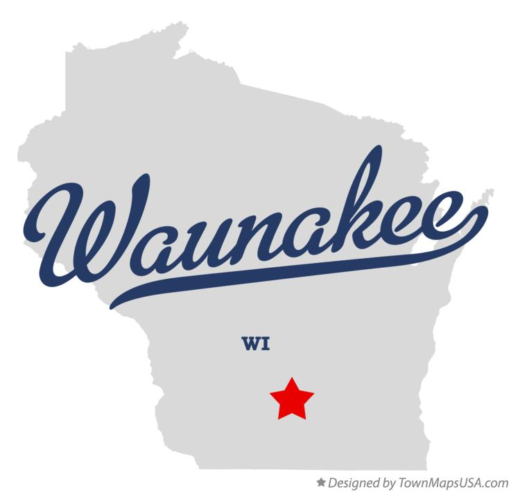 Map of Waunakee Wisconsin WI