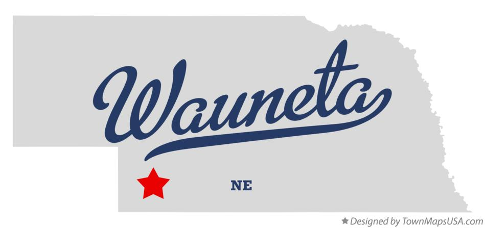 Map of Wauneta Nebraska NE