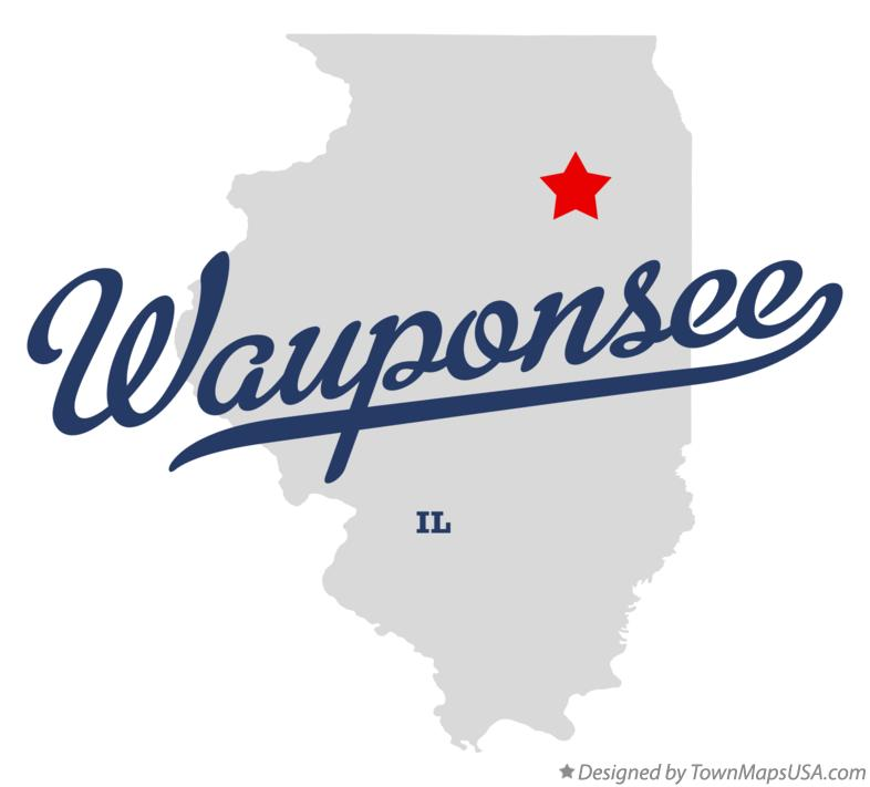 Map of Wauponsee Illinois IL