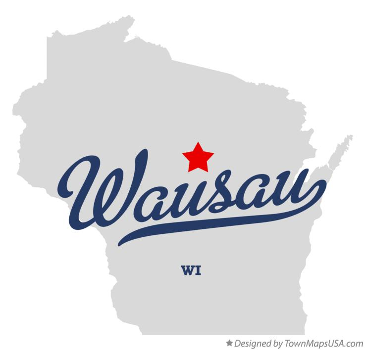 Map of Wausau Wisconsin WI
