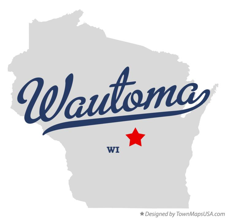 Map of Wautoma Wisconsin WI