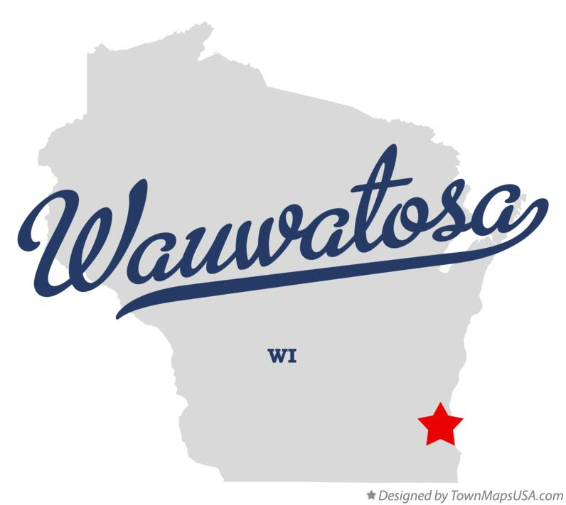 Map of Wauwatosa Wisconsin WI