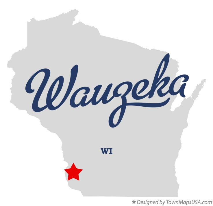 Map of Wauzeka Wisconsin WI