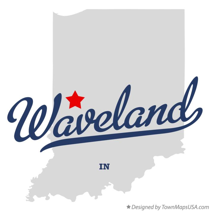 Map of Waveland Indiana IN