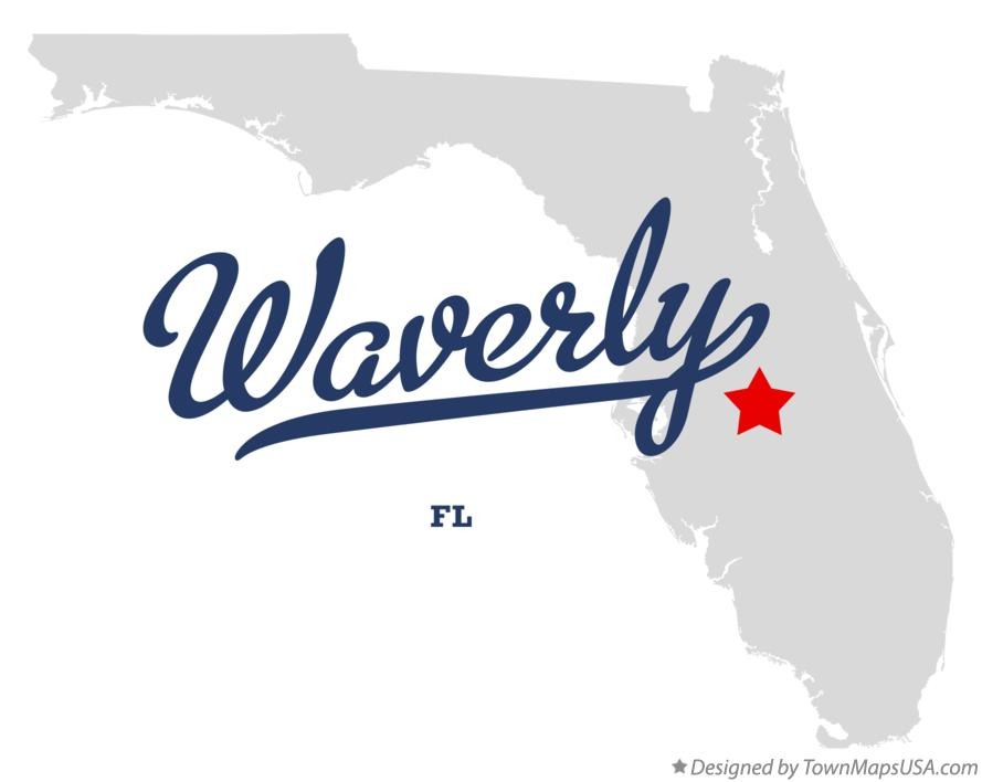 Map of Waverly Florida FL