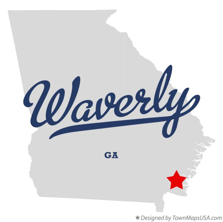 Map of Waverly Georgia GA