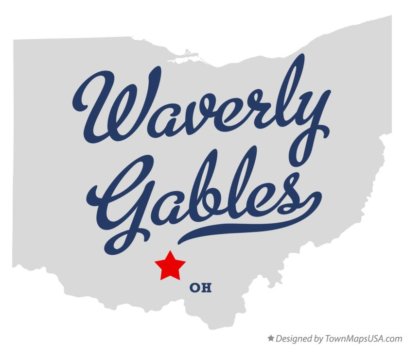 Map of Waverly Gables Ohio OH