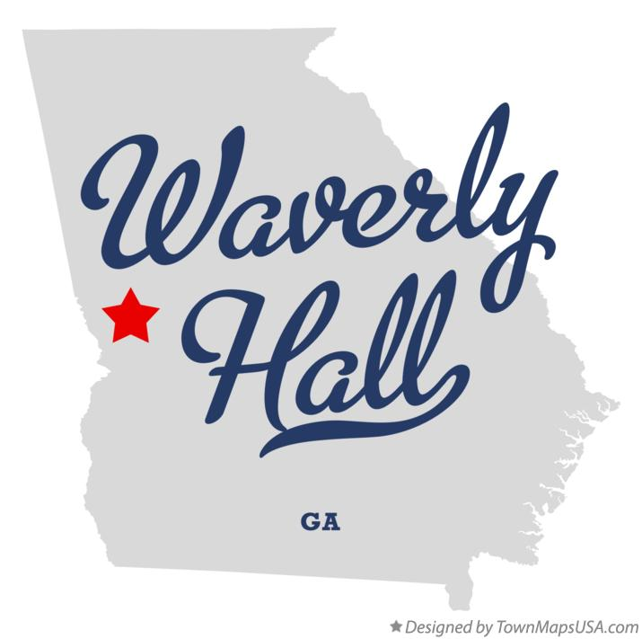 Map of Waverly Hall Georgia GA
