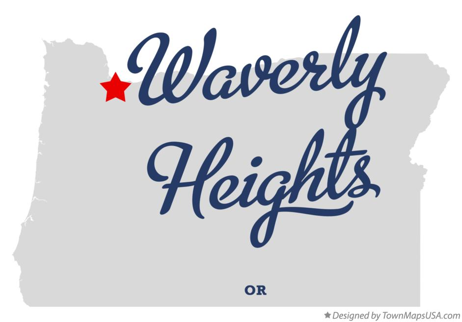Map of Waverly Heights Oregon OR