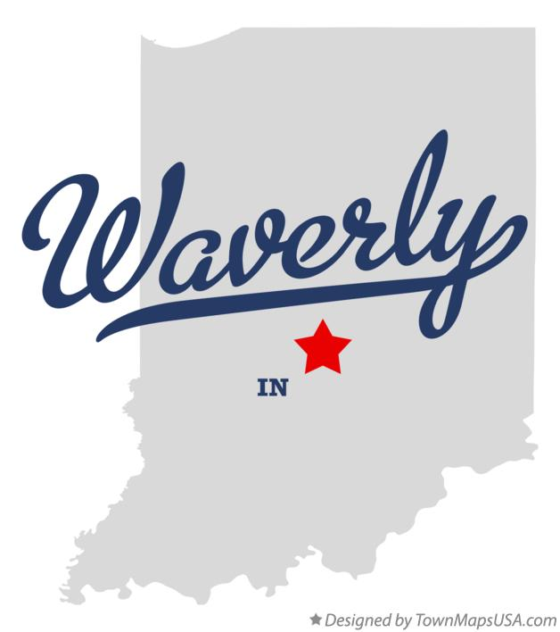 Map of Waverly Indiana IN