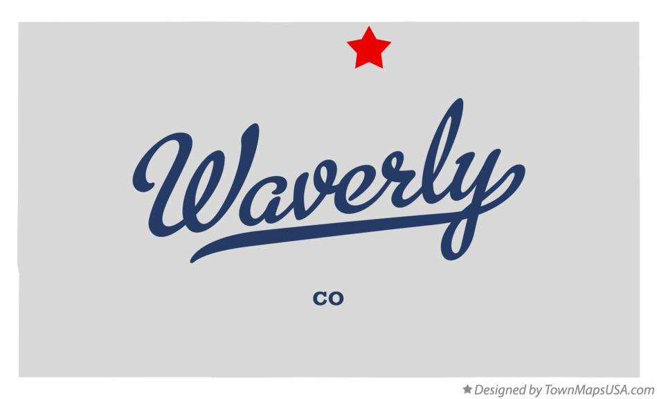 Map of Waverly Colorado CO