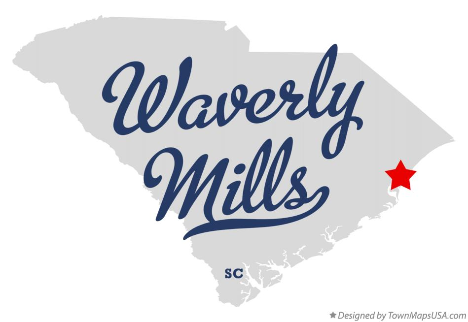 Map of Waverly Mills South Carolina SC