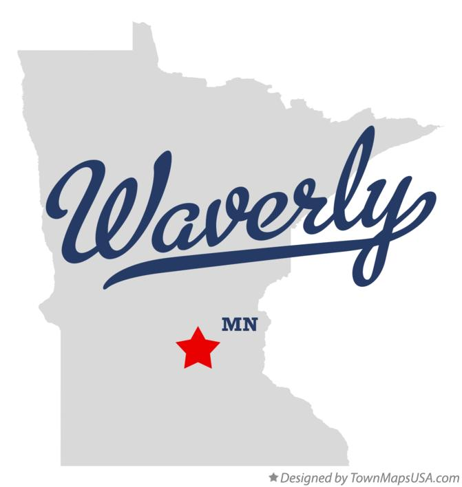 Map of Waverly Minnesota MN
