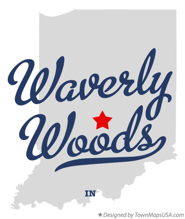 Map of Waverly Woods Indiana IN