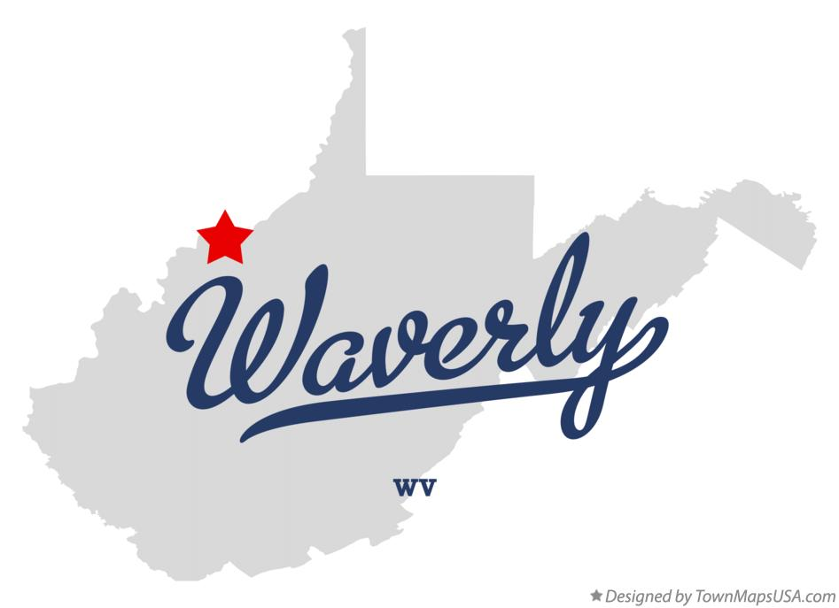 Map of Waverly West Virginia WV