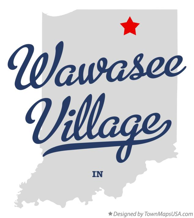 Map of Wawasee Village Indiana IN