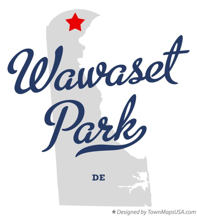 Map of Wawaset Park Delaware DE