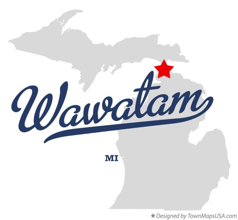 Map of Wawatam Michigan MI