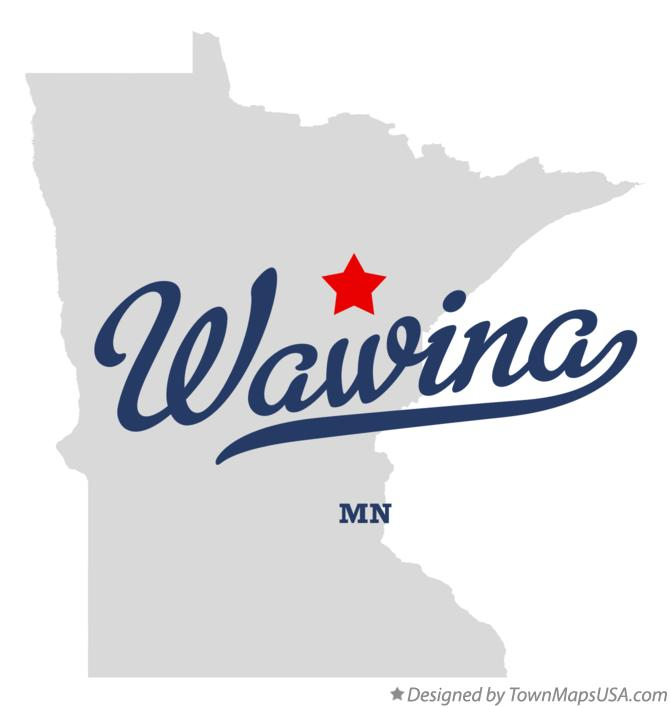 Map of Wawina Minnesota MN